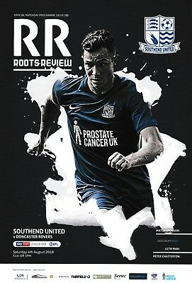 Southend United v Doncaster Rovers 2018/19 brand new football programme