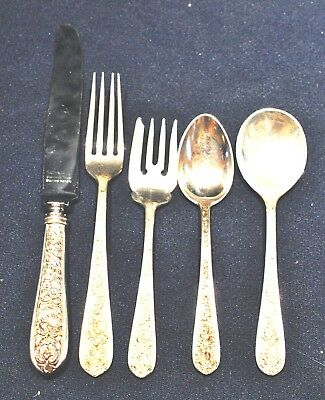 Corsage By Stieff Sterling Flatware Set For 8 Not Monogrammed Super Shape