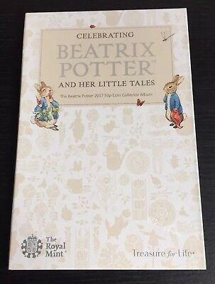 2017 Beatrix Potter Royal Mint 50p Coin Collection Album New (No Coins)