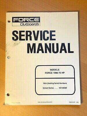 1996 Brunswick Force Outboard Service Repair Shop Manual, 75 HP
