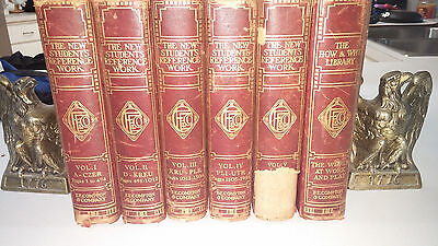 """Antique """"The New Student's Reference Work"""" Complete 5 vol's 1915 + How & Why vol"""