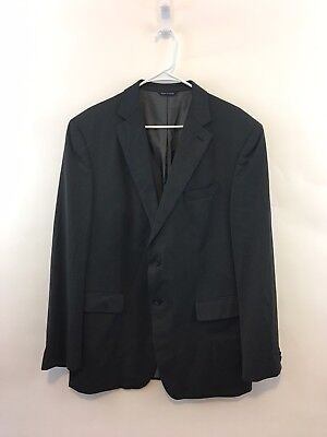 Banana Republic Men's 44R Modern Fit Blazer Suit Jacket Charcoal Wool Two Button