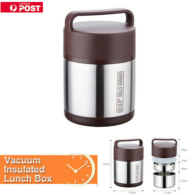 0a4becaff7c8 STAINLESS STEEL LUNCH Box Vacuum Insulated Food Container Thermos ...