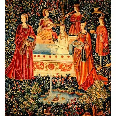 Highly Illuminated Women cOURT YARD  Manuscript  New Artwork.Re-production