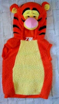 Size 2T - 4T Disney TIGGER One Piece PLUSH HOODED Pullover Birthday Pics Costume