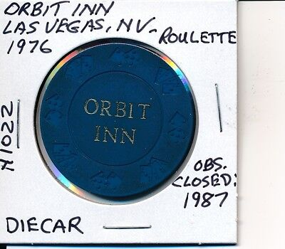 Roulette Casino Chip Orbit Inn Las Vegas Nv 1976 Diecar Mold N1022 Clsd: 1987
