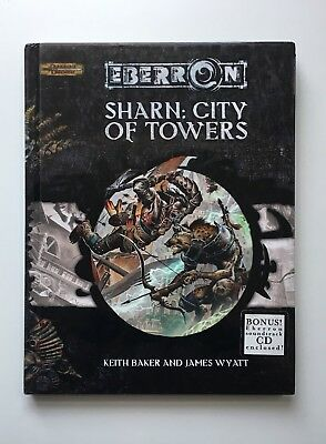 Eberron - Sharn City of Towers - D&D Dungeons & Dragons d20 WotC with CD