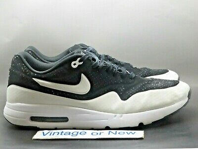 59635be7d Nike Air Max 1 Ultra Moire Black White 2014 Running Shoes 705297-001 sz 14