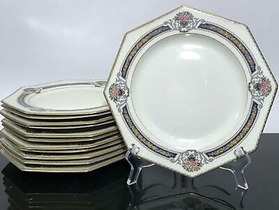 Vtg 12pc ROSENTHAL Ivory Orelay Octagon Dinner Plate Dishes Set