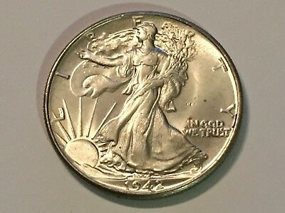 1942 Walking Liberty Half Dollar - Brilliantly Uncirculated - see pictures!