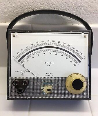 (1) Vintage Weston Model 911 D.C. Volts Meter Used Untested