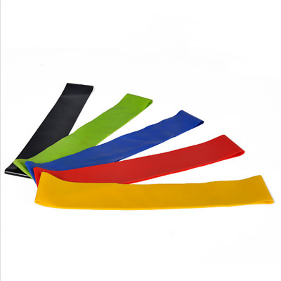 Calitek Set of 5 Resistance Loop Bands for Exercise Sports Fitness Home Gym Yoga