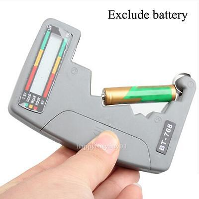Digital LCD Battery Tester Checker Universal For 9V 1.5V C AA AAA D Button Cell