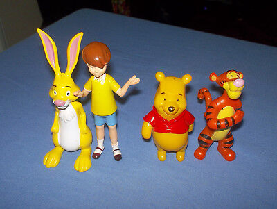 4 Disney Winnie The Pooh Toy Characters
