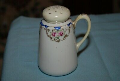 Vintage Hand Painted Nippon Handled Single Salt Shaker Gold Moriage