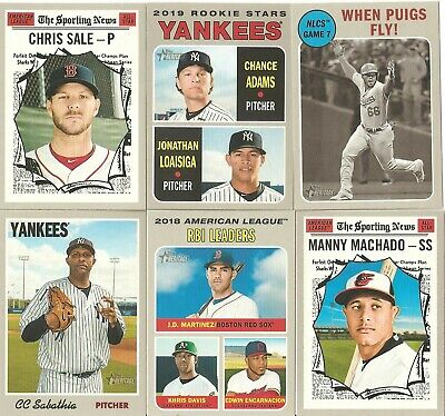 2019 Topps Heritage Base Singles...complete Your Set>>1-400 >>Pick Any 10!