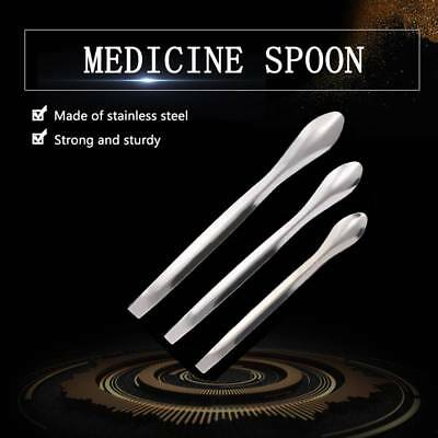 3Pcs Lab Spoon Scraper Dental Instruments Small Amount Spoon Stainless Steel