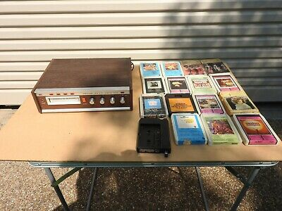 Vintage Realistic TR8, 8 Track Stereo Player and 8 Track Cassettes