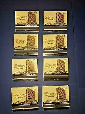 Lot of Vintage DUNES Hotel Country Club Casino Diamond Of The Dunes Matchbooks