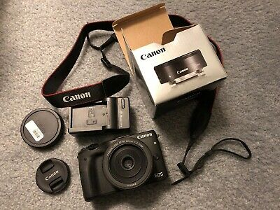 CANON EOS M3 24.2MP BLACK BODY With EFM 22mm f2 STM [GOOD CONDITION]