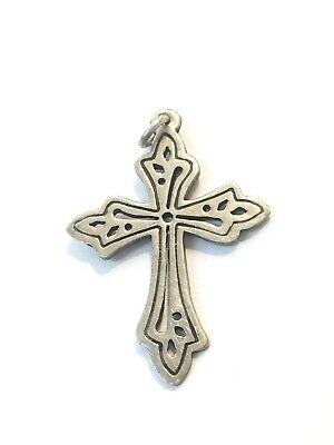 Sterling Silver Cross, Christian Religious Pendant, Necklace