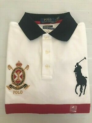0fd90305c5 NWT POLO RALPH Lauren Men Custom Slim Fit Polo Rugby Mesh Big Pony Crest  Logo