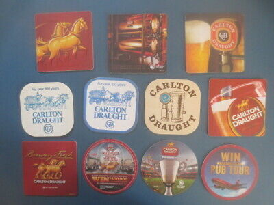 11 different CARLTON DRAUGHT Brewery,,collectable Beer COASTERS