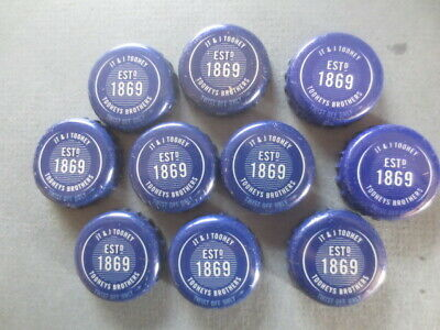 10 Q & A  1869 TOOHEYS Brothers collectable BOTTLE TOPS