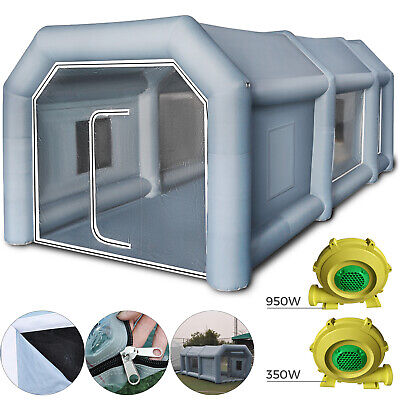 Inflatable Spray Booth Paint Tent Car Paint 2 Blowers Rainproof Paint Booth