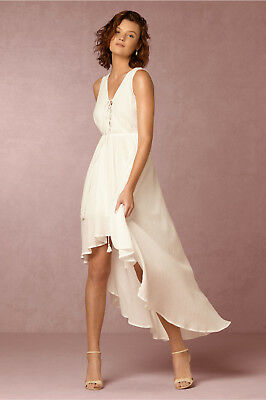 New Anthropologie Bhldn $200 Ivory High-Low Katja Dress By The Jetset Diaries L