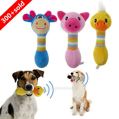Funny Animal Pet Puppy Dog Toys Plush Sound Squeaky Squeaker Chew Voice Play