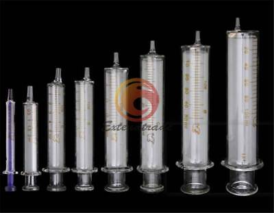 1PC New 1-30ml Glass Syringe Injector Lab Sampler Diameter Caliber Precision