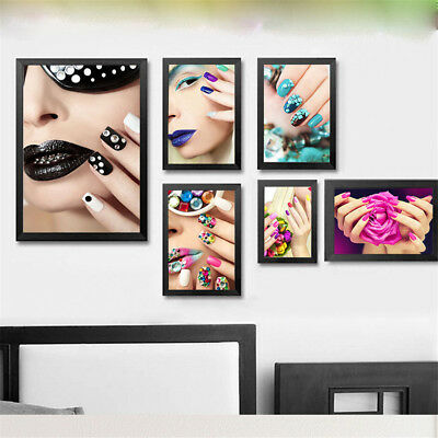 Nordic Beauty Nail Woman Canvas Print Art Painting Home Wall Decor Unframed