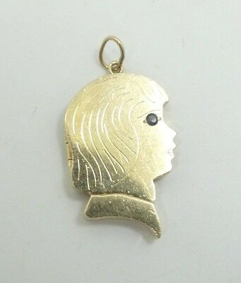 14k Yellow Gold Nugget Pendant Free Form Charm 3.3g