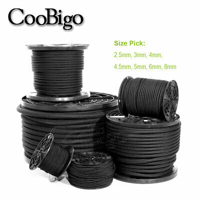 2.5~8mm Strong Elastic Bungee Shock Cord Rope Marine Grade Tie Down Stretch Rope