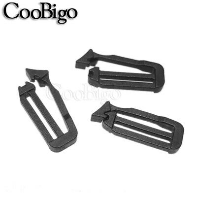 "1"" (26mm) Plastic Tri-Glide Adjust Buckles Looploc Slider Backpack Strap Webbing"