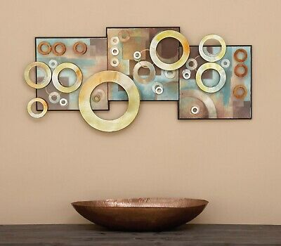 Wood Metal Wall Sculpture Art Abstract Contemporary