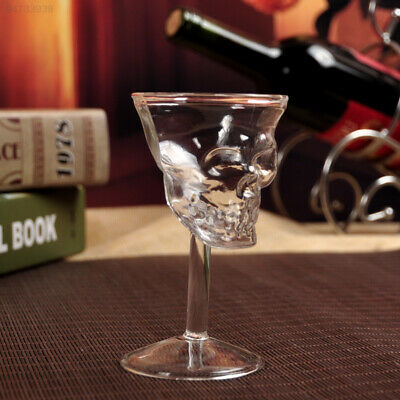 0061 1Pc New Crystal Skull Head Shot Whiskey Wine Glass Cup Glassware High
