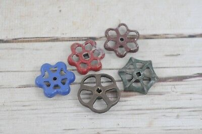 5 Vintage Water Valve Faucet Handles Knobs Steampunk  #2