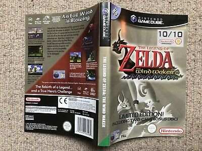 COVER INSERT ONLY Zelda Wind Waker - GameCube Box Cover Art Only (A)