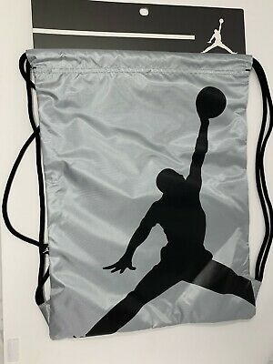 cfc43761828b51 NIKE AIR JORDAN Jumpman Drawstring Backpack Wolf Gray 9A1940-G3A ...