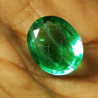 4.00 Ct.Natural Precious Oval Colombian Green Emerald Loose Gemstone A-3840