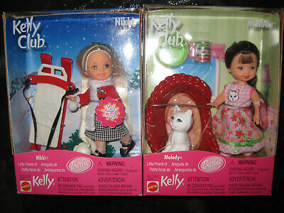 2 Kelly Club Dolls - Nikki And Melody-Mib-Little Sister Of Barbie