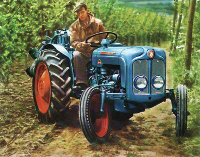 Fordson Dexta Vintage Tractor Advertising - Poster (A3) - (3 for 2 offer)