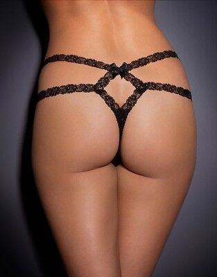 38b265d44a34b Agent Provocateur CHIKI Lace Thong in Black Size:4 Large Ret: $190 New w