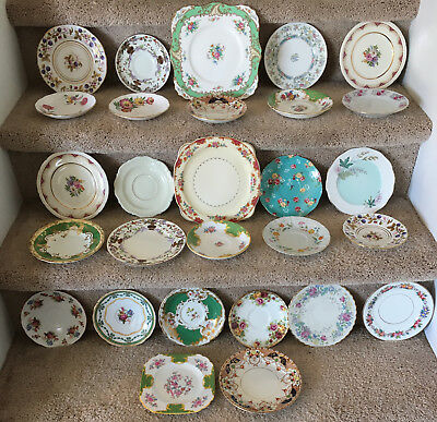 Lot of 28 Saucers & Plates - Made in England(20), America(2), Japan(1), China(2)