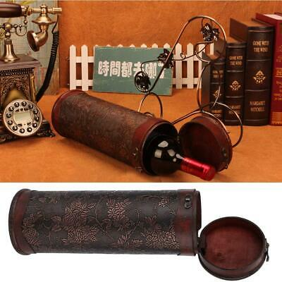 Portable Vintage Red Wine Box Pine Wood Wine Storage Box Wine Bottle Case Gift