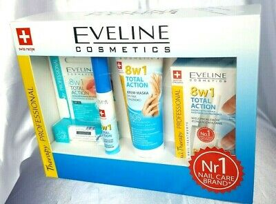 Eveline Cosmetics Full Set THERAPY PROFESSIONAL 8in1 TOTAL Nails,Face,Eye Lash