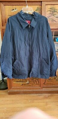 H0108 Faded Glory Mens Navy Blue Casual Jacket Size Xl (46/48) Combine Ship