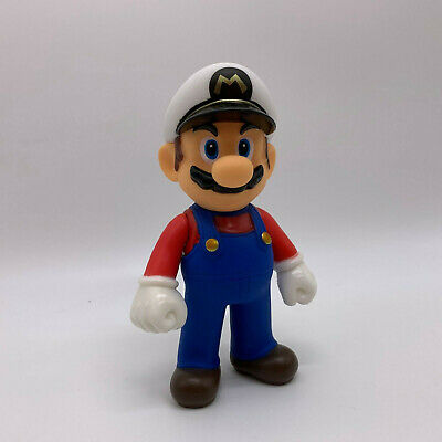 Super Mario Odyssey Navy Mario Figure Plastic Toy Doll 5""